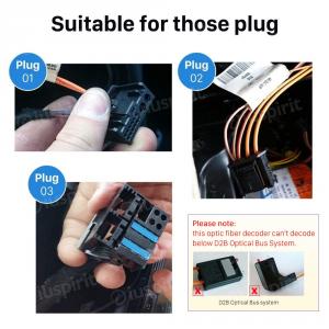 CAN-BUS decoder fibra ottica per Mercedes SLK Classe CLS Classe E Classe S/SL Classe CL