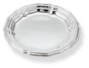Sottobottiglia piattino pane argentato argento stile 700 cm.diam.14