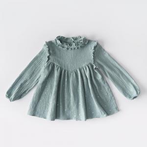 Blusa in mussola di cotone con stelline glitter vari colori