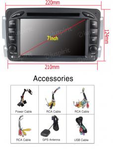 ANDROID 10 autoradio 2 DIN navigatore per Mercedes classe C W203 classe CLK W209 classe A W168 classe G W463 classe E W210 Vito Viano GPS DVD WI-FI Bluetooth MirrorLink