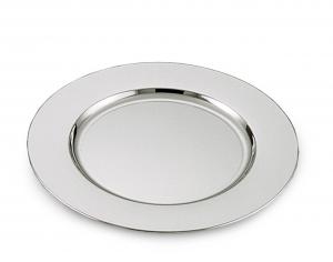 Sottopiatto argentato argento liscio stile Cardinale