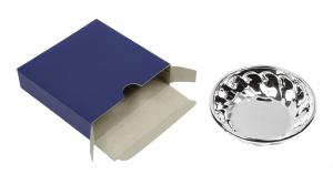 Ciotola vuotatasche in silver plated cm.2h diam.8