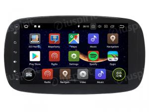 ANDROID 9.0 autoradio navigatore per Smart Fortwo W453, Smart ForFour 2014 - 2018 GPS WI-FI Bluetooth MirrorLink