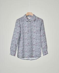 Camicia manica lunga con stampa cuori multicolor 10-16 anni
