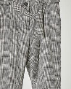 Pantalone principe di Galles con fascia in vita tono su tono 10-16 anni