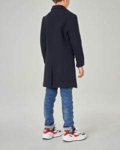 Cappotto blu in misto lana con chiusura a tre bottoni 10-16 anni