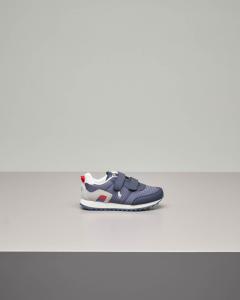 Sneakers running blu con chiusura a strappo 28-34