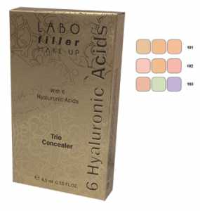 LABO FILLER MAKE UP TROUSSE TRIO CORRETTORE - CON 6 ACIDI IALURONICI