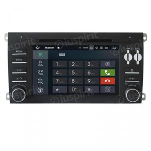 ANDROID 10 autoradio 2 DIN navigatore per Porsche Cayenne 2003-2010 GPS DVD WI-FI Bluetooth MirrorLink