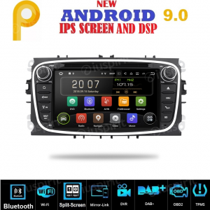 ANDROID 9.0 autoradio 2 DIN navigatore per Ford Focus, Ford Mondeo, Ford S-Max, Ford C-Max, Ford Galaxy GPS DVD WI-FI Bluetooth MirrorLink