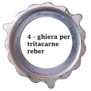 Ghiera per tritacarne manuale REBER N°8/10/12/22/32