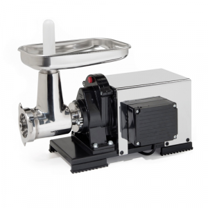 Tritacarne semiprofessionale elettrico REBER N.22 inox 1.200W 1.5cv.
