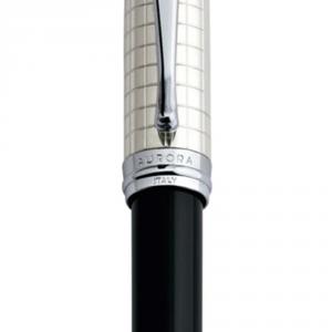 Penna a Sfera Ipsilon Quadra Argento Nera