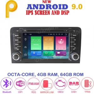ANDROID 9.0 autoradio 2 DIN navigatore per Audi A3 Audi S3 2002-2011 GPS DVD WI-FI Bluetooth MirrorLink
