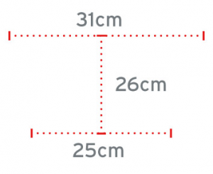 Quadripode a base larga e manico chiuso