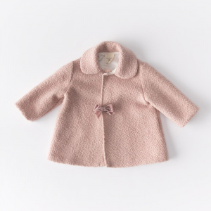 Pezzo unico Set in lana bouclè vestitno, cappottino e cuffietta