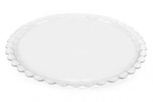 Piatto torta in vetro cm.37,5x37,5x2h