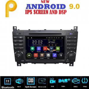ANDROID 9.0 autoradio 2 DIN navigatore per Mercedes classe C W203, C220, C230, C240, C280, classe CLK W209, CLK200, CLK220, CLK 240, Mercedes classe CLC W203, W467, A209, W219 GPS DVD WI-FI Bluetooth MirrorLink