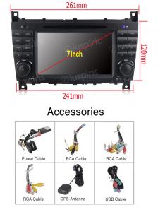 ANDROID 10 autoradio 2 DIN navigatore per Mercedes classe C W203, C220, C230, C240, C280, classe CLK W209, CLK200, CLK220, CLK 240, Mercedes classe CLC W203, W467, A209, W219 GPS DVD WI-FI Bluetooth MirrorLink