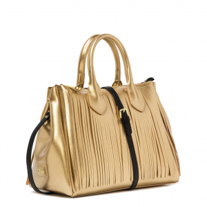 Borsa a Mano color oro Fourty Media con frange - GUM Design