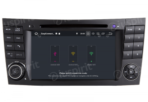 ANDROID 9.0 autoradio 2 DIN navigatore per Mercedes classe E W211, Mercedes classe G W463, Mercedes classe CLK W209, Mercedes classe CLS W219, E200, E220, E240, E270, E280, E300 GPS DVD WI-FI Bluetooth MirrorLink