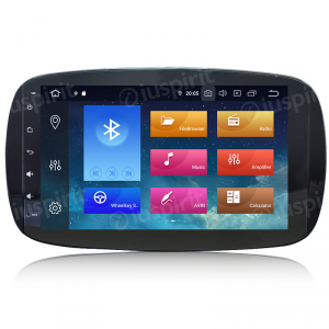ANDROID 10 autoradio navigatore per Smart Fortwo W453, Smart ForFour 2014-2019 GPS WI-FI Bluetooth MirrorLink