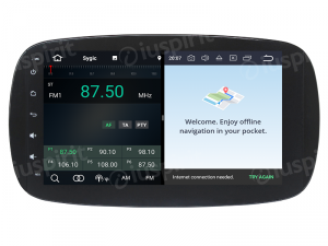 ANDROID 9.0 autoradio navigatore per Smart Fortwo W453, Smart ForFour 2014-2018 GPS WI-FI Bluetooth MirrorLink