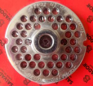 Piastre in acciaio inox per tritacarne N°12 foro mm. 5/6/8/12/14/16/18/20