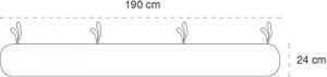 Babysanity - NUOVA COLLEZIONE Riduttore paracolpi cilindro per lettino SFODERABILE cm 190 x 24 cm MISURA XL + lacci colore Bianco related image
