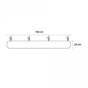 Babysanity - NUOVA COLLEZIONE  Riduttore paracolpi cilindro per lettino SFODERABILE cm 190 x 24 cm MISURA XL + lacci colorei lettino Panna related image