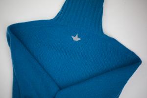Maglione in lana rasata a collo alto optanio Macchia J