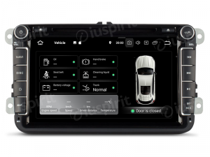 ANDROID 9.0 autoradio 2 DIN navigatore per VW Golf 6, Golf 5, Passat, Tiguan, Jetta, Polo, Touran, Caddy, Scirocco GPS DVD WI-FI Bluetooth MirrorLink