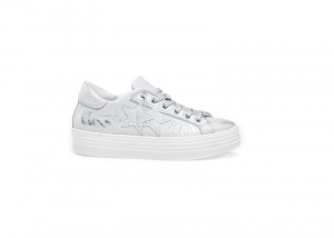 Sneakers donna 2Star low hs argento