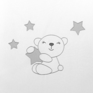 NUOVA COLLEZIONE 2019/2020 Completo piumone lettino   Little Star  grigio  related image