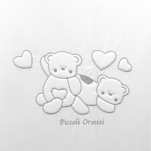 NUOVA COLLEZIONE 2019/2020 Completo piumone lettino piccoli orsetti bianco grigio  related image