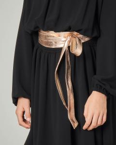 Cintura a fusciacca color oro in ecopelle