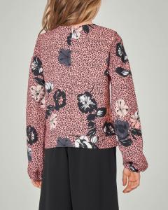 Camicia animalier con stampa floreale 8-14 anni