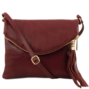 Tuscany Leather TL141153 TL Young Bag - Borsa a tracolla con nappa Bordeaux