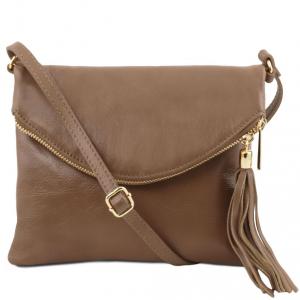 Tuscany Leather TL141153 TL Young Bag - Borsa a tracolla con nappa Talpa scuro