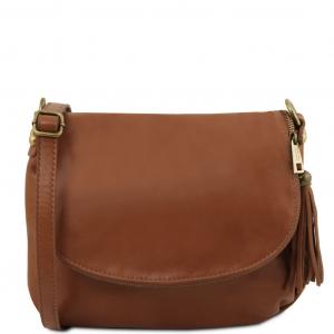 Tuscany Leather TL141223 TL Bag - Borsa morbida a tracolla con nappa Cannella