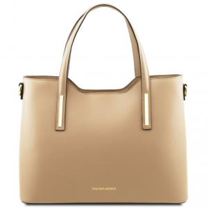 Tuscany Leather TL141412 Olimpia - Borsa shopping in pelle Champagne