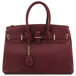 Tuscany Leather TL141529 TL Bag - Borsa a mano con accessori oro Bordeaux