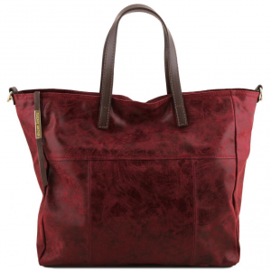 Tuscany Leather TL141552 Annie - Borsa shopping TL SMART in pelle effetto invecchiato Bordeaux