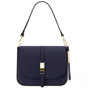 Tuscany Leather TL141598 Nausica - Borsa a tracolla in pelle Blu scuro