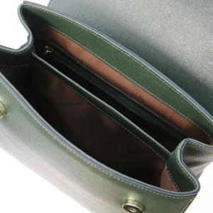 Tuscany Leather TL141628 TL Bag  - Bauletto piccolo in pelle Saffiano Verde Foresta