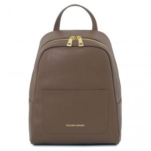 Tuscany Leather TL141701 TL Bag - Zaino piccolo in pelle Saffiano da donna Talpa scuro