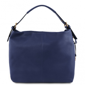Tuscany Leather TL141719 TL Bag - Borsa hobo in pelle morbida Blu scuro
