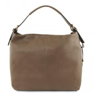 Tuscany Leather TL141719 TL Bag - Borsa hobo in pelle morbida Talpa scuro