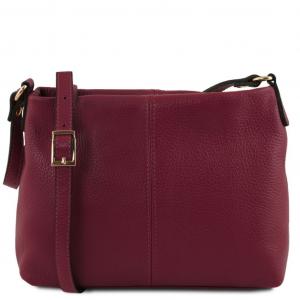 Tuscany Leather TL141720 TL Bag - Borsa a tracolla in pelle morbida Bordeaux