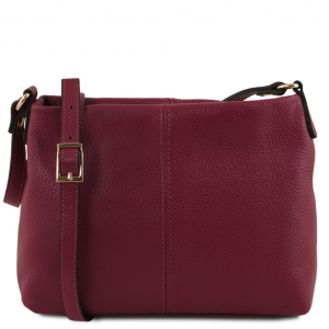 Tuscany Leather TL141720 TL Bag - Borsa a tracolla in pelle morbida Bordeaux